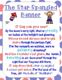 The Star-Spangled Banner Song Fill-in-the Blank Worksheet (Digital)