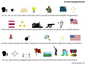 The Star Spangled Banner Pre-Reading Sheet