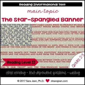 The Star-Spangled Banner • Reading Comprehension Passages and Questions • RL II
