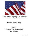 The Star Spangled Banner  by FS Key  Autism Adapted Poetry  (PDF Color Download)