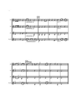 The Star-Spangled Banner for Clarinet Quartet