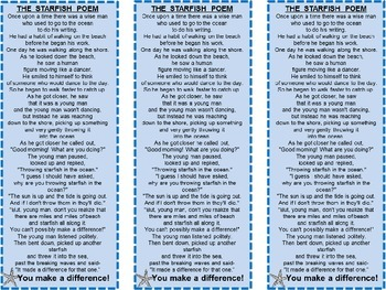 Free! The Starfish Story Bookmark