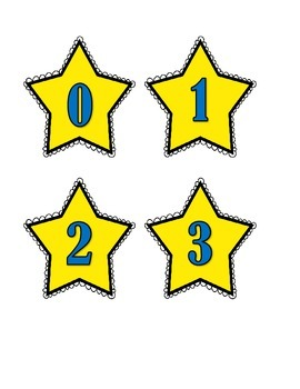 The Stars are Brightly Shining - sets, number identification, number words