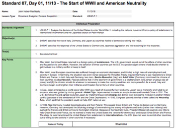 The Start of WWII and American Neutrality (LP + Docs + PPT + Notes)