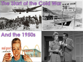 The Start of the Cold War & The 1950s U.S. History Bundle w/ video