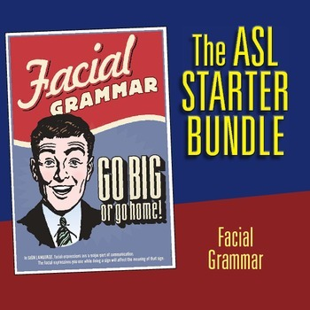 The Starter Bundle. Four ASL posters.