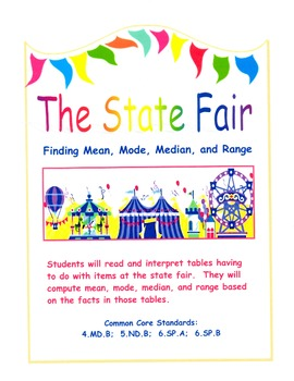 The State Fair - Finding Mean, Mode, Median, and Range