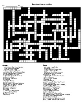 The State Slogans Crossword Puzzle