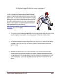 The Statistics of Baseball Salaries 2012