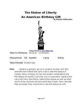 The Statue of Liberty: An American Birthday Gift - Small Group Reader's Theater