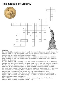The Statue of Liberty Crossword
