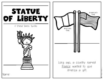 The Statue of Liberty {History Reader} for Kindergarten & First Social Studies