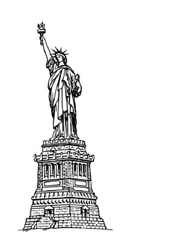 The Statue of Liberty Word Search