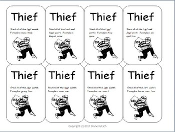 The Stealing Game--digraphs and diphthongs
