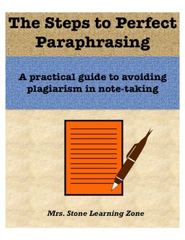 The Steps to Perfect Paraphrasing - A Practical Lesson for Researching