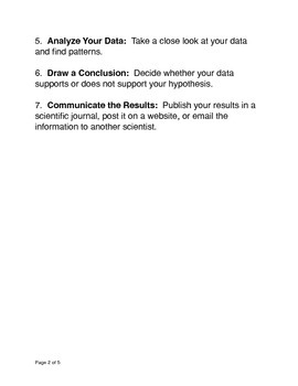 The Steps to the Scientific Method