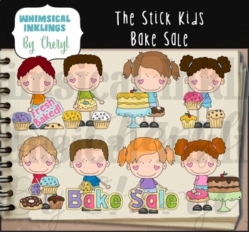 The Stick Kids Bake Sale Clipart Collection