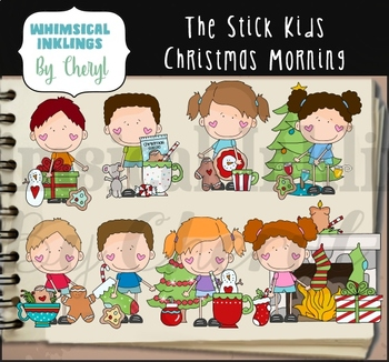 The Stick Kids Christmas Morning Clipart Collection