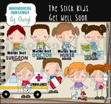 The Stick Kids Get Well Soon Clipart Collection