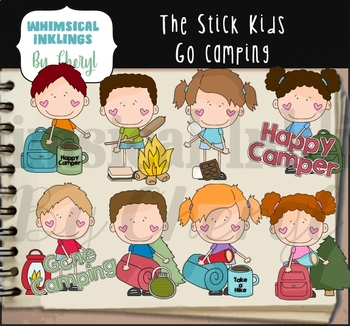 The Stick Kids Go Camping Clipart Collection