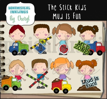 The Stick Kids Mud Is Fun Clipart Collection