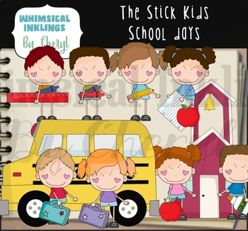 The Stick Kids School Days Clipart Collection