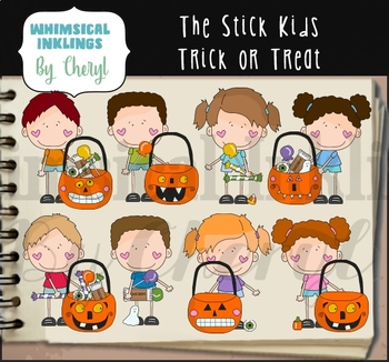 The Stick Kids Trick Or Treat Clipart Collection