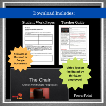 The Chair: Common Core Aligned Critical Thinking Using a Real-Life Legal Case