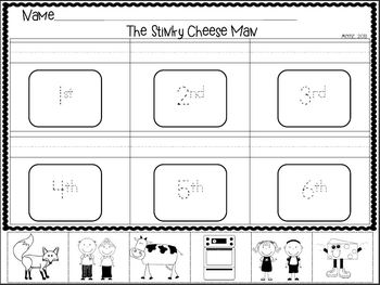 The Stinky Cheese Man Math & Literacy Mini Unit