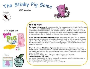 The Stinky Pig Game CVC Version