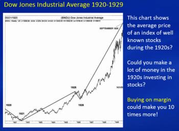 The Stock Market Crash - a secondary social studies & math lesson; printables
