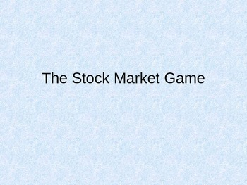 The Stock Market Game: Teaching about 'Black Tuesday'
