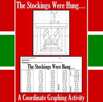 Christmas - The Stockings Were Hung - A Coordinate Graphing Activity