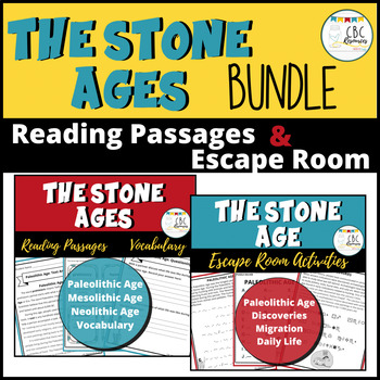 The Stone Age Bundle with Reading Passages and Escape Room Activities