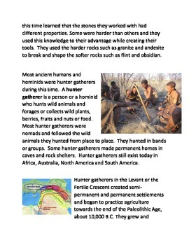 The Stone Age and the Hunter Gatherers