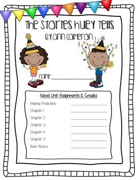 The Stories Huey Tells ELA Common Core Novel Study Unit