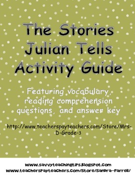The Stories Julian Tells Activity Guide
