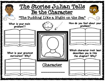 The Stories Julian Tells Be the Character Graphic Organizer