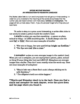 The Stories Julian Tells Comprehension Packet