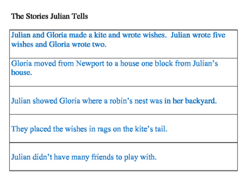 The Stories Julian Tells Sequential Order