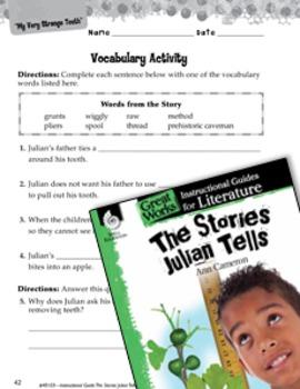 The Stories Julian Tells Vocabulary Activities (eLesson)