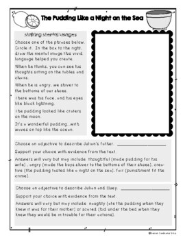 The Stories Julian Tells by Ann Cameron, Student Packet, Guided Reading N
