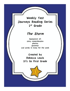 The Storm Assessment from the Journey's Reading Series
