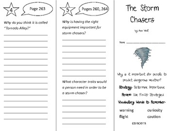 The Storm Chasers Trifold - 3rd Grade Literacy by Design Theme 8