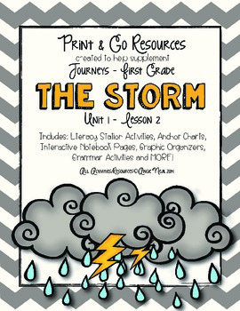 The Storm - Journeys First Grade Print and Go