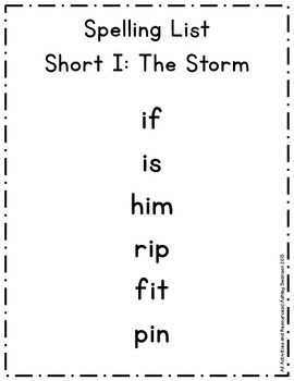The Storm Journeys First Grade Spelling Wall BLACK Primary Penmanship Font