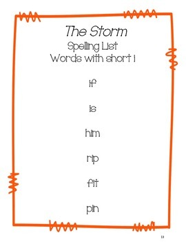 The Storm - Journeys First Grade Word Work Pack
