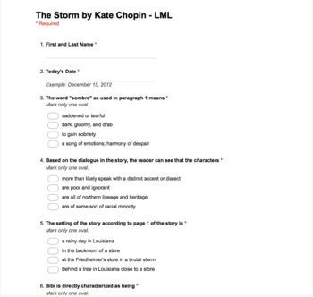 The Storm by Kate Chopin - Last Minute Lessons Reading and Audio Series