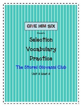 The Stormi Giovanni Club - Selection Vocabulary Grade 5