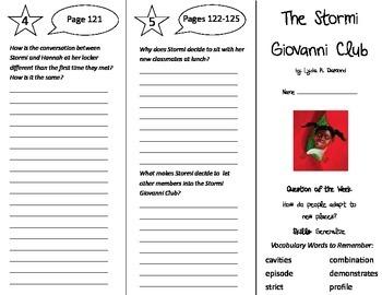 The Stormi Giovanni Club Trifold - Reading Street 5th Grade Unit 4 Week 4